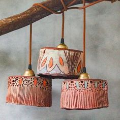 Ceramic pendant lights and pottery handmade by Madeline King on the Sunshine Coast Australia. Small batches of handmade ceramic lamp shades, ceramic lamps, pottery pendant lights, ceramic plant pots, ceramic bells and ceramic decor. Ceramic Pottery, Pottery Art, Ceramic Art, Slab Pottery, Pottery Studio, Ceramic Bowls, Ceramic Light, Ceramic Pendant, Ceramica Artistica Ideas