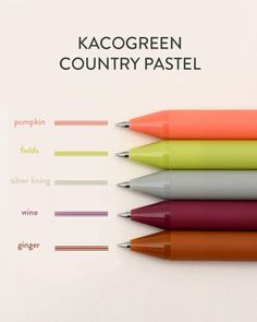 Pumpkin Field, Silver Lining, Pen Sets, Autumnal, Gel Pens, Ink Color, Good Mood, Fountain Pen, Smudging