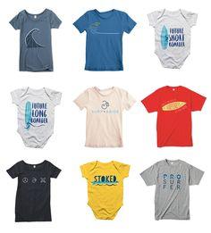 Surf & Abide t-shirt designs || Jody Worthington Graphic Design #tshirtdesign #surf #apparel #branding