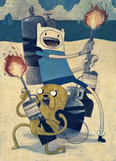 Adventure Time artwork by Rich Kelly