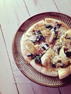 ほうれん草とアーティチョークのピザ。|レシピブログ
