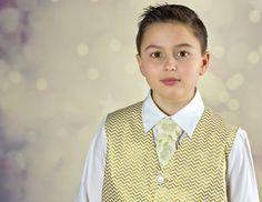Boys Vest - Boys Tie - Boys Vest And Tie - Gold Vest - Boys Gold Vest - Gold Tie - Boys Gold Tie - Boys Formal Wear - Ring Bearer Outfit