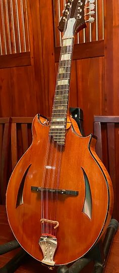 Skip Kelley Mandolin Offset Two Point Aged Redwood Top 2017 | Howie's Stringed SPECtaculars | Reverb Cult Following, Tiger Stripes, Mandolin, Hard Rock, Old School, The Incredibles, Musical Instruments, Building, Top