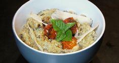 μελιτζανοσαλάτα καπνιστή με καραμελωμένα ντοματίνια - Pandespani.com Appetisers, Greek Recipes, Appetizer Recipes, Dips, Side Dishes, Oatmeal, Salads, Vegan, Breakfast