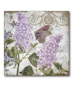 Take a look at this Purple Flower II Canvas Wall Art by COURTSIDE MARKET on #zulily today!