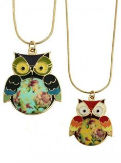 Shop Enamel Floral Owl Necklace at ROMWE, discover more fashion styles online. Owl Necklace, Knot Necklace, Collar Necklace, Pendant Necklace, Owl Jewelry, Jewelry Box, Animal Jewelry, Jewelry Accessories, Owl Always Love You