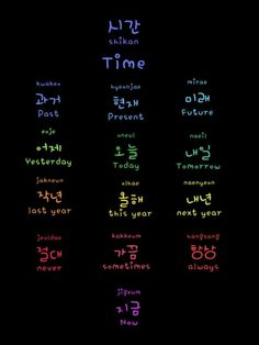 Learn Korean - time