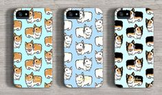 Cute Welsh Corgi Dog Pattern iPhone 6 Case iPhone 5 by kiwihen WANT WANT WANT WANT THE FIRST ONE