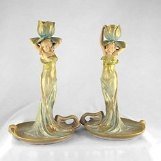 Matching candle sticks by Ernst Wahliss