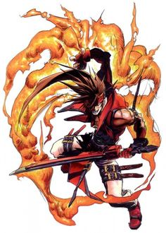 View an image titled 'Sol Badguy Flames Concept Art' in our Guilty Gear art gallery featuring official character designs, concept art, and promo pictures. Game Character Design, Character Art, Guilty Gear Xrd, Battle Chasers, Gear Art, Video Game Art, Video Games, Video Game Characters, Fighting Games