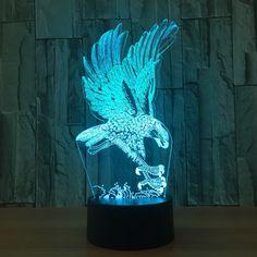 hunting #eagle #3d Illusion Lamp #xstron