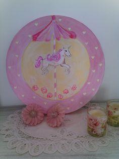 Un joli carrousel .... tableau disponible sur A little market - Les toiles de ludivinette