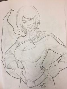 Powergirl  by CrisDelaraArt