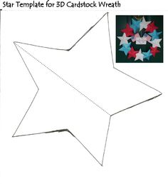 Star template for 3-d wreath
