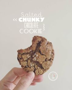 salted chunky chocolate cookie