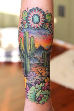 Desert tattoo google search tattoos and trends for Arizona desert tattoo