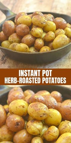 Instant Pot Herb Roasted Potatoes made easy in a pressure cooker. All you need is 15 minutes to turn baby potatoes into crisp, fluffy, and flavorful side dish the whole family will love! #potatoes #InstantPot #pressurecookerrecipes #comfortfoods #sidedish #roastedpotatoes Instant Pot Pressure Cooker, Pressure Cooker Recipes, Slow Cooker, Pressure Cooking, Instant Cooker, Instant Pot Dinner Recipes, Side Dish Recipes, Side Dishes, Recipes Dinner
