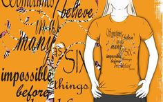 Celebrating Alice. Many styles/colours available....http://www.redbubble.com/people/wightstitches/collections/351728-t-shirts…