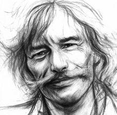 Cool Art Drawings, Drawing S, Pencil Drawings, Portrait Au Crayon, Pencil Portrait, Jean Ferrat, Celebrity Drawings, Sketch A Day, Photoshop