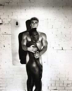 Dolph Lundgren and Grace Jones by Helmut Newton, 1985.
