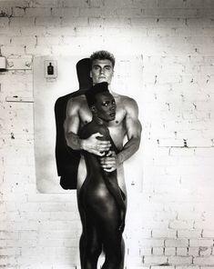 Dolph Lundgren and Grace Jones by Helmut Newton, 1985.