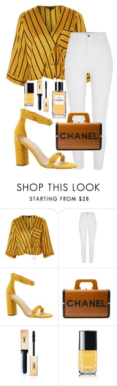 """""""Untitled #329"""" by streetstyle21 ❤ liked on Polyvore featuring Topshop, BCBGeneration, Chanel and Yves Saint Laurent"""