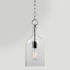 One of my favorite discoveries at WorldMarket.com: Mini Clear Glass Pendant Lamp