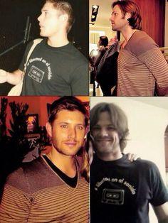 Jared and Jensen wearing the same shirts