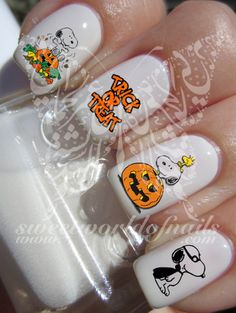 Snoopy Halloween Nail Art Nail Water Decals                                                                                                                                                                                 More