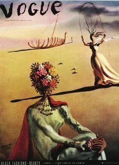 Vintage Vogue cover by Salvador Dalí, 1939