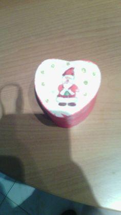 Scatolina a cuore natalizia