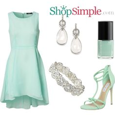 Show off your feminine side in this cute #outfit!  Get the dress now(US$53.00)--> http://shopsimple.com/ZBRj6b Get the heels now(US$99.95)--> http://shopsimple.com/Rvq6F3