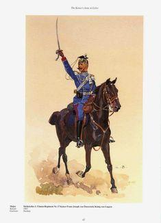 German; 17th (1st Royal Saxon) Uhlans 'Emperor Francis Joseph of Austria, King of Hungary'. Major. Home Depot Oschatz. XII Army Corps
