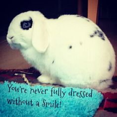 You're never Fully Dressed without a smile! :)