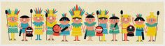 """Aztecs"", illustration | Illustrator: Studio Pamplemousse"