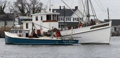 The Lori Robin deadrise oyster boat approaches the buyboat Delvin K, anchored in the creek at Tangier Island, VA Monday, Dec. Photo by Bob Brown. Pilothouse Boat, Motor Cruiser, Lobster Fishing, Ural Motorcycle, Bay Boats, Chesapeake Bay, Fishing Boats, Canoe, Lighthouse