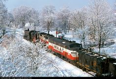 RailPictures.Net Photo: 234 Western Maryland Railway EMD F7(A) at Kemps, Maryland by Jeremy Plant