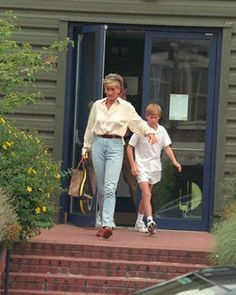 September 02, 1996: Prince Harry, and Princess Diana left Chelsea Harbour Gym.