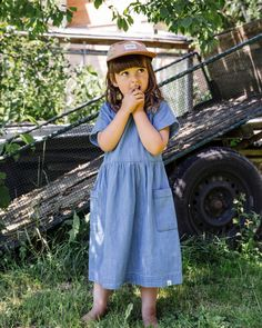 Our Eden Dress will keep your little ones cute and cool during the blazing summer heat ☀️ #matona #sustainablefashion #slowfashion #ethicalbrand #fairfashion #slowfashionmovement #ethicallymade #lessismore #dress #summerdress #denim #denimstyle Kids Labels, Ethical Brands, Slow Fashion, Summer Days, Warm Weather, Sustainable Fashion, Modern, Organic Cotton, Pure Products