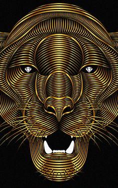 Panther, art numérique par Patrick Seymour #digitalart #animal #panther