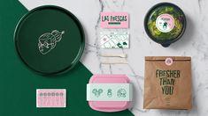 Provincia - Estudio Creativo Salad Packaging, Brand Packaging, Packaging Design, Branding Design, Food Packaging, Cafe Branding, Food Branding, Identity Branding, Corporate Identity