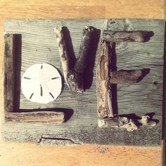 LOVE  Driftwood Sign by TreasureJunkieTiff on Etsy