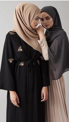 Healthy living tips wellness programs for women Islamic Fashion, Muslim Fashion, Modest Fashion, Fashion Outfits, Hijab Gown, Hijab Outfit, Kimono Noir, Estilo Abaya, Ice Dresses