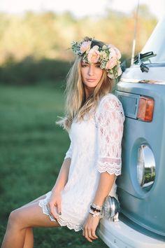 Boho Campervan Bridal Shoot by Brandon Scott Photography   SouthBound Bride #wedding #weddings #boho