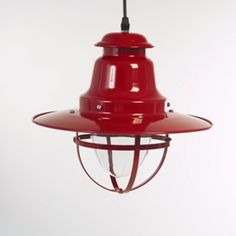 Red Quayside Nautical Pendant Light
