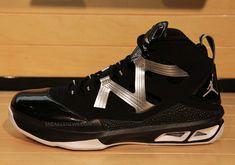 new product 9b391 636db Jordan Melo M9 Metallic Silver Black White