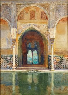 George Owen Wynne Apperley - Entrance to the Hall of Ambassadors, Alhambra