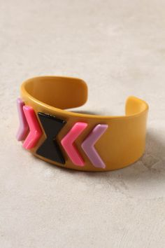 love this cuff from anthro. great colour combo!
