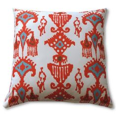 Find it at the Foundary - Tangerine Orange Ikat Outdoor Toss