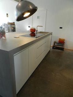 keukenblad in mortex van www.texturepainting.be